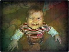 happy girl (Robin.Benea) Tags: portrait cute texture girl smile face interestingness funny action sweet sony anastasia soe h50 mygearandme ringexcellence musictomyeyeslevel1