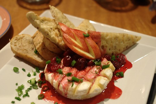 Baked Brie with Apple-Cranberry Chutney @ O Bistro