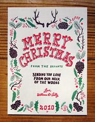 Christmas Card 2010 (Willbryantplz) Tags: christmas letterpress mandatepress thefancypants
