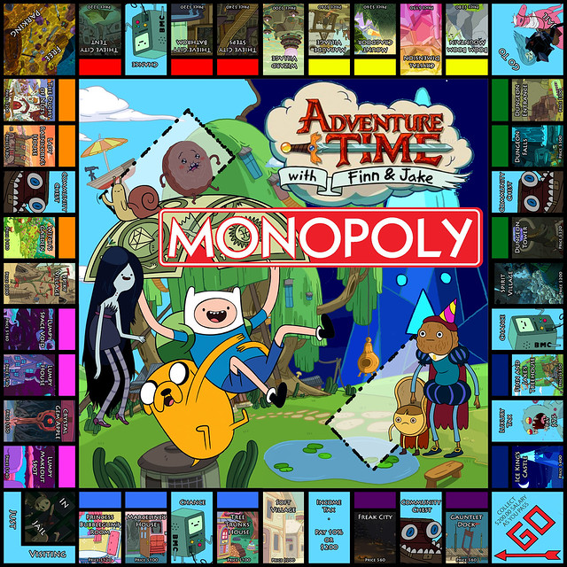 Adventure Time Monopoly Fan Art