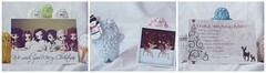 Christmas cards! ('D a p h n e.) Tags: bear christmas pink blue brown white snow green yellow cards panda thankyou snowy bubble mustache bookworm ttf sdcc crazylabel treeson bubiauyeung babytreeson