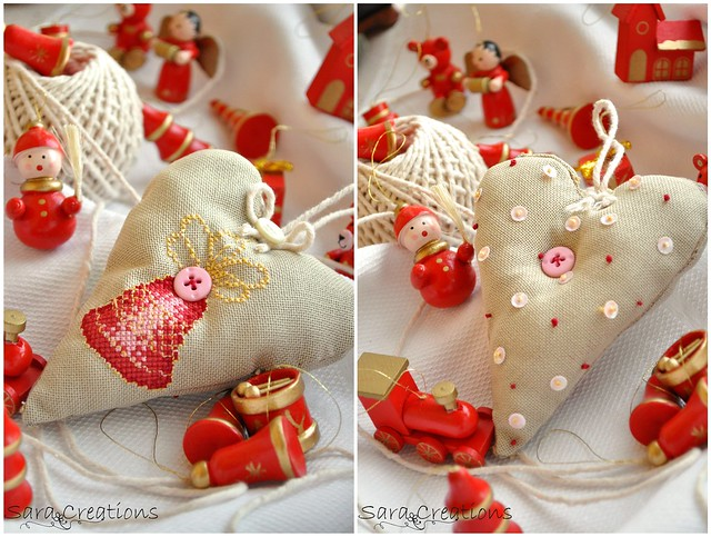 bell Christmas heart
