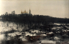 ze_m_15 (mariczka) Tags: winter snow slr film church fog analog landscape iso400 ukraine overexposed helios44m zenitet poltava fujicolorsuperiaxtra400 vintageanalogue