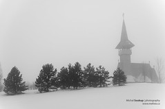 Moody Landscape (Michal Soukup) Tags: bw building church fog architecture landscape blackwhite smog moody republic czech most orthodox sigma30mmf14 mostecko nikond300s