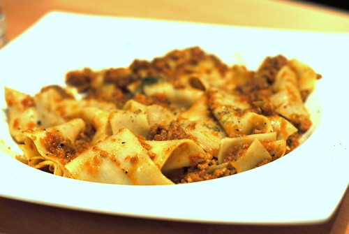 Pork Bolognese with Home-made Pappardelle