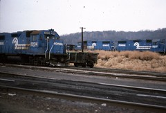 CR 8234 (Fan-T) Tags: old blue school slide cr mingo conrail gp382 jct 8234 8237 k64