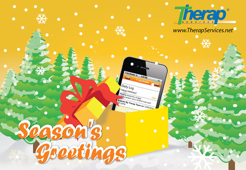 Picture of Season's Greetings card from Therap