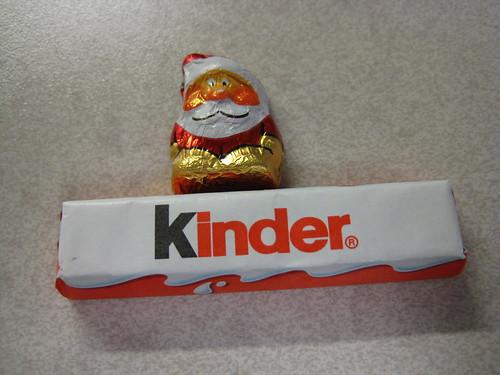 kinder and santa