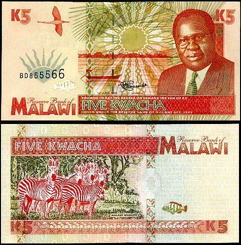 5 Kwacha MALAWI 1995, P30