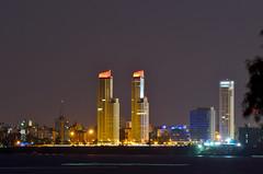 """""""Rosario de noche, desde la distancia (3)"""" (Marcelo Savoini) Tags: city argentina night noche nikon ciudad rosario distance far lejos distancia 70300mmvr d7000"""