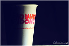 Dunkin Donuts ~ ilove it ♥ (Nayof) Tags: كوب كوفي يالبيه اضاءه دانكن