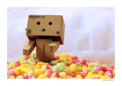 Danbo is addicted to sweets as well (solamore) Tags: colour macro toy sweet sugar revoltech danboard canon7d canonmacroefs60mmf28