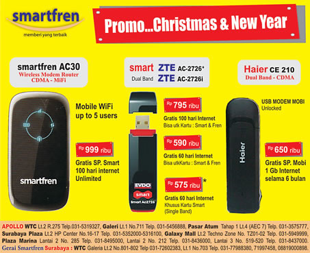 Smartfren USB Modem Wireless Router Promo
