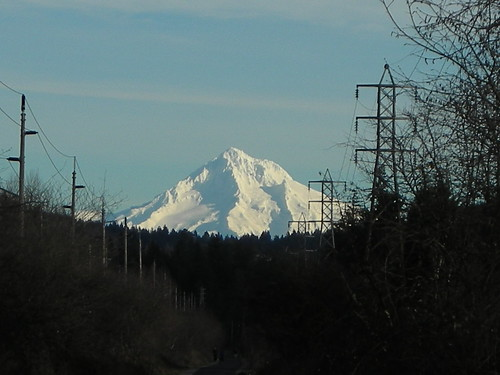 Mount Hood from the Springwater Trail just east of Bellrose