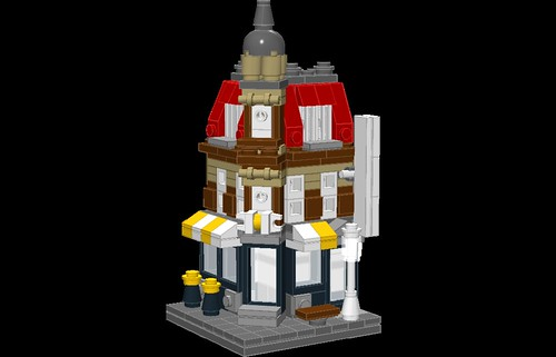 Quarter Scale Cafe Corner by Vincent Kessels