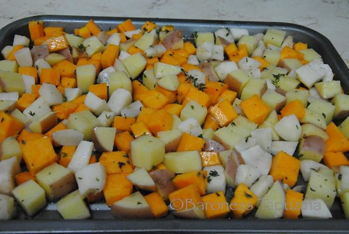 Butternut Squash, Jerusalem Artichokes and Potato