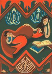 lecture enfantine (anh gloux) Tags: mer illustration octopus mermaid maternit sirene