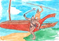 Warriors Attack from Ocean