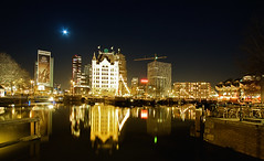 Oude Haven Rotterdam @ Moonlight (DolliaSH) Tags: street city longexposure trip travel light sky people urban moon haven streets holland color reflection building water colors skyline architecture night canon river photography lights noche photo rotterdam topf50 europe foto tour nightshot photos nacht harbour whitehouse nederland thenetherlands cities cube moonlight cubes topf100 nuit notte natt 1022 architectuur architectura noch zuidholland scheepvaart canonefs1022mmf3545usm oudehaven rijnmond rotjeknor southholland hetwittehuis 50d nachtopname manhattanaandemaas canoneos50d dollia dollias sheombar dolliash