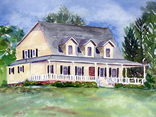 Custom Watercolor Painting of your Home