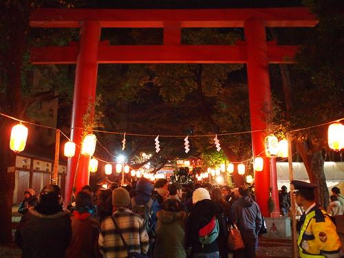 花園神社初詣