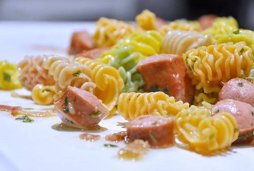 Comer y cantar - Ensalada de pasta fresca a la albahaca