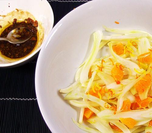 insalata di finocchio, arancia e liquirizia_