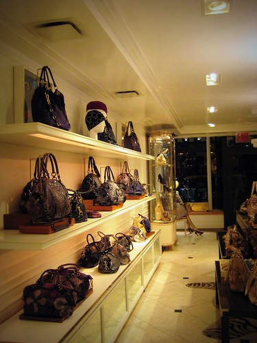Inside the Coach store on Bleeker