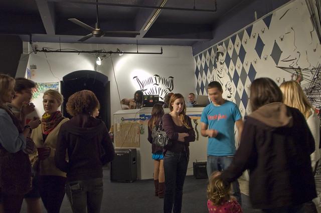 Downcrowd at PGLB  long beach downtown art walk by Phantom Galleries LA