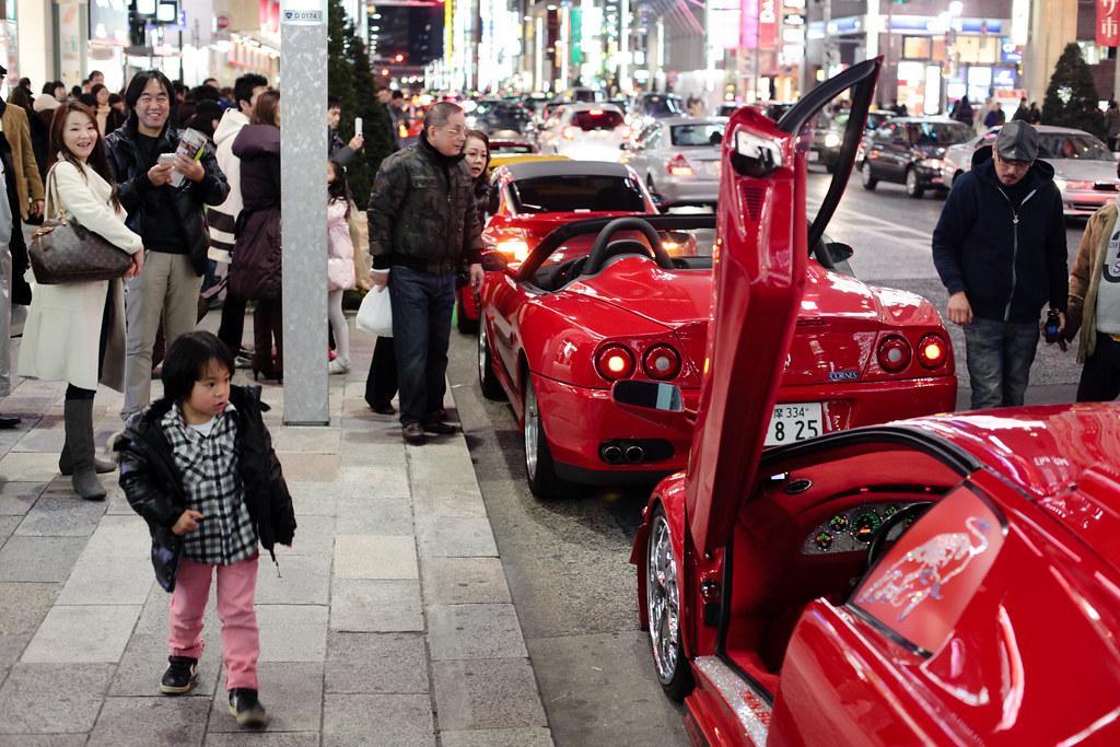 Supercars at Ginza, Tokyo