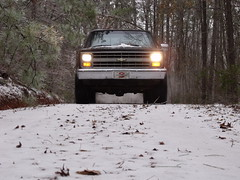 138 (stevenbr549) Tags: road trees winter snow chevrolet ice weather truck georgia woods 4x4 country gray 4wd dirt chevy 1985 k10 2011