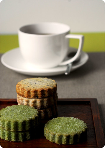 Green Tea and Black Sesame Cookies