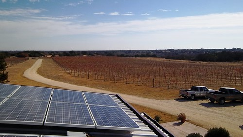 Photovoltaic cells recently installed at Red Caboose Winery in Texas were funded in part by a grant from USDA Rural Development