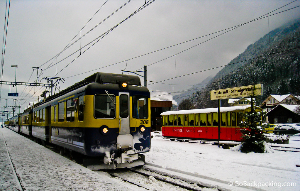 The train to Interlaken