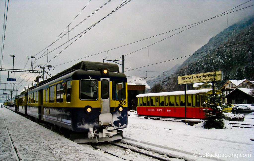 The train to Interlaken