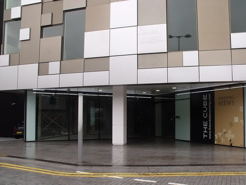 The Cube from Commercial Street - entrance