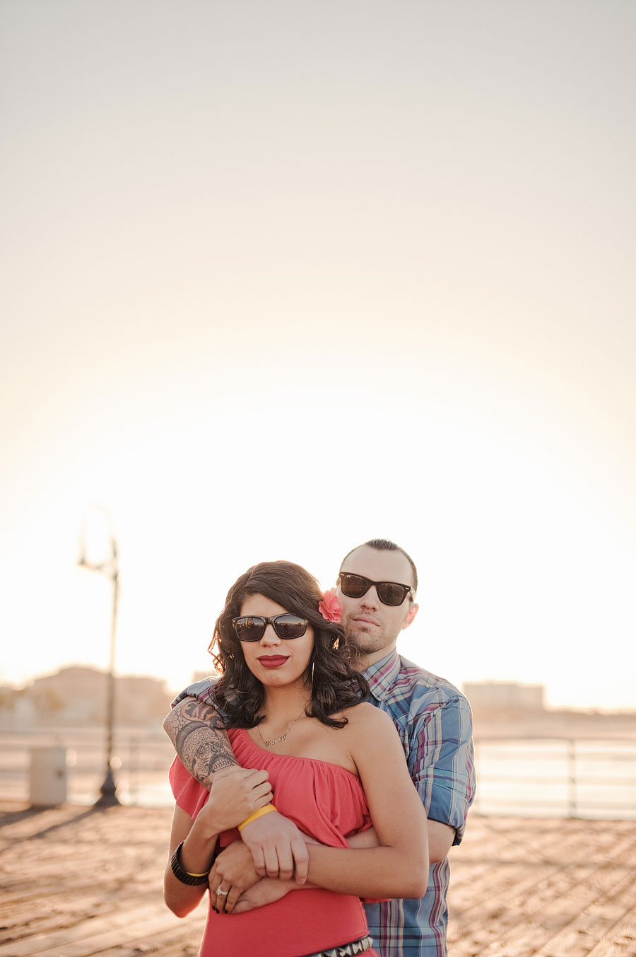 Santa Monica Pier Engagement photos, Los Angeles Wedding Photographer 001