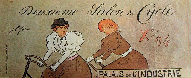 Vintage Bicycle Poster: Deuxieme Salon du Cycle