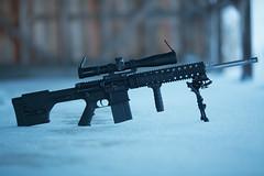 Armalite AR-10 rifle (Timo Vehvilinen) Tags: winter snow gun dof bokeh scope rifle shooting talvi sb 135mm firearm ase bipod canonef135mmf2l sniperrifle armalite loppi ar10 kivri magpulprsstock schmidtandbender butlercreekscopecovers schmidtbender416x42pmiilp eratac
