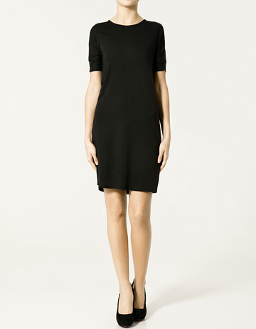 zara back neckline dress