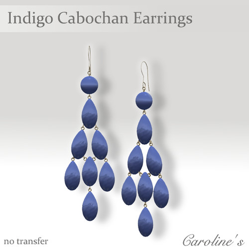Caroline's Jewelry Indigo Cabochan Earrings