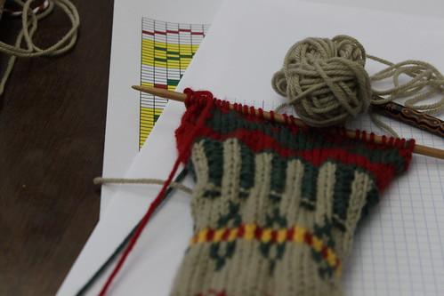 Tricotar a 2 cores... no PORTO