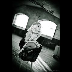 Take-off on vintage perch (dominikfoto) Tags: portrait urban blackandwhite bw france sexy bird window girl beauty face bicycle vintage children model nikon industrial child noiretblanc tricycle fabrik femme babe 50mm14 nb retro redhead portraiture perch bas enfant fenêtre oiseau velo villefranche birdy rousse virginie industriel perches chaussure modèle collant friche perchoir pédale 50mm14nikkor d3s fusinadominik