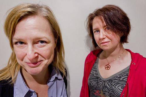 Gitta Willén och Lotta Holmström