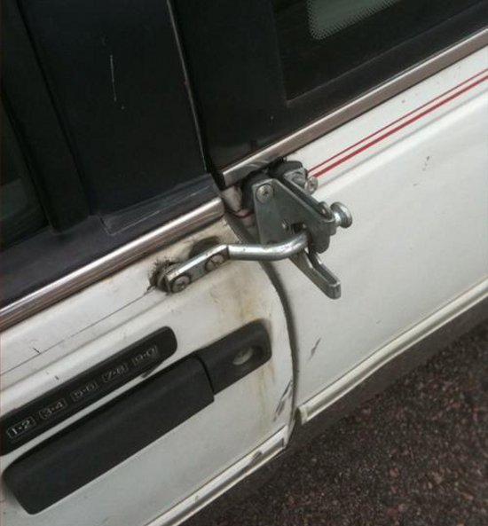 White Car Lock Fail
