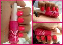 Cintura Baixa, Risqué (Mica Cavalcante) Tags: pink neon rosa nails risque unha esmalte cinturabaixa pop4you