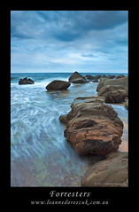 Forresters (Leanne DOROSZUK) Tags: sunset storm beach clouds rocks dusk panoramic lee 2470 forresters manualstitch canon5dmkii leannedoroszuk softgraduatedfilter