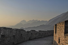 Great Wall of China @ Huairou District Beijing China (Mac63) Tags: china mountains stone wall construction decay border chinese beijing unesco worldheritagesite fortification fortifications protection fortress  invasion 1022mm defence peking defend greatwallofchina  mingdynasty  watchtowers chinesewall qinshihuang  werelderfgoed mutianyugreatwall platinumheartaward earthasia canon7d huairoudistrict thelongwallof10000li   mostbeautifulpictures longfortress thegreatwallatmutianyu mac63 hansevers