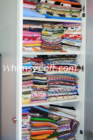 Fabric closet all tidied up