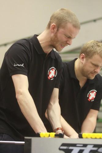 joueurs danois en action